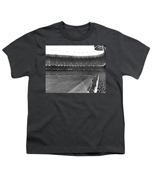 View Of Yankee Stadium Youth T-Shirt by Underwood Archives
