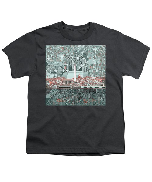 Washington Dc Skyline Abstract Youth T-Shirt
