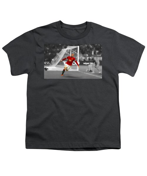 Wayne Rooney Scores Again Youth T-Shirt by Brian Reaves