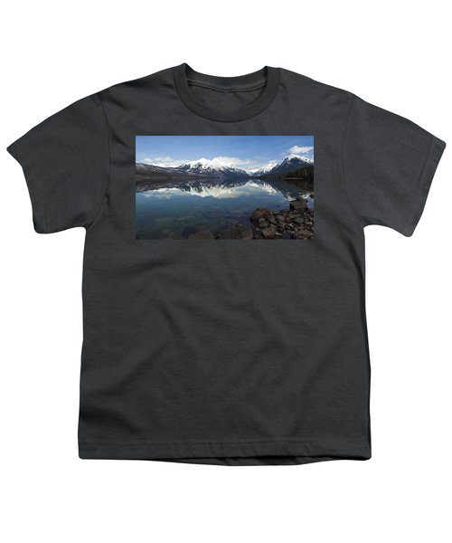 When The Sun Shines On Glacier National Park Youth T-Shirt