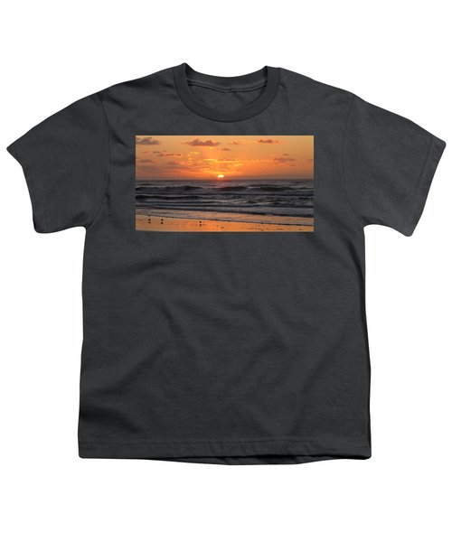 Wildwood Beach Here Comes The Sun Youth T-Shirt by David Dehner