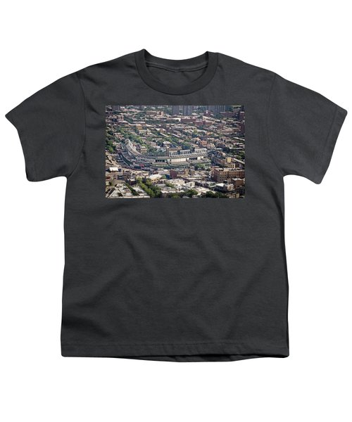 Wrigley Field - Home Of The Chicago Cubs Youth T-Shirt by Adam Romanowicz