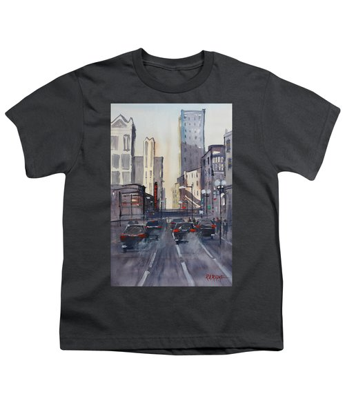 Theatre District - Chicago Youth T-Shirt by Ryan Radke