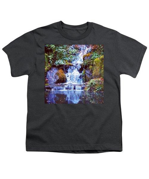 Waterfall - Portland Japanese Garden Portland Or Youth T-Shirt