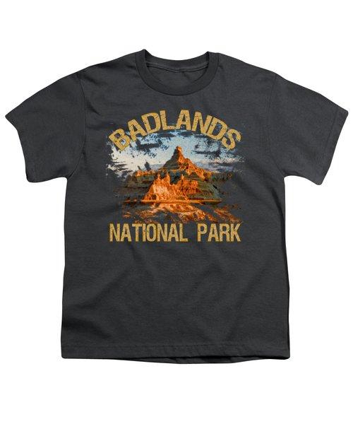 Badlands National Park Youth T-Shirt by David G Paul