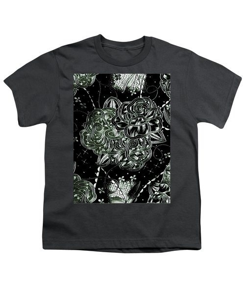 Black Flower Youth T-Shirt