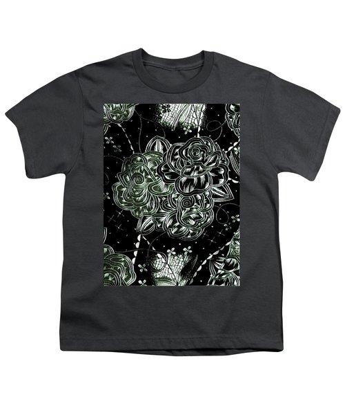 Black Flower Youth T-Shirt