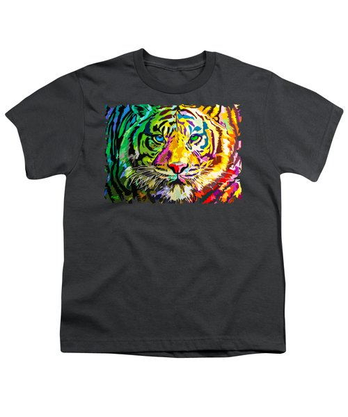 Colorful Tiger Youth T-Shirt