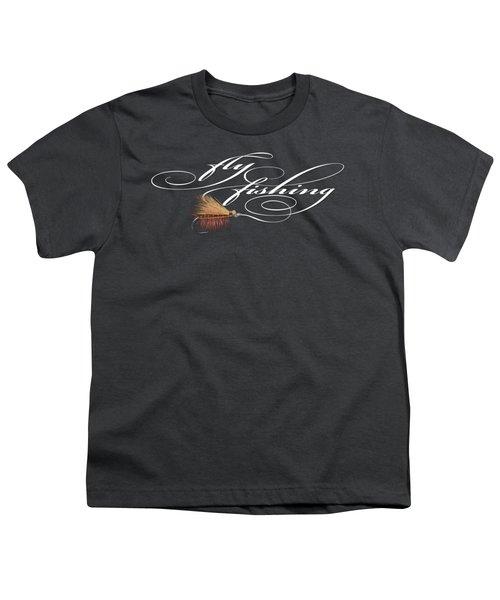 Fly Fishing Elk Hair Caddis Youth T-Shirt by Rob Corsetti