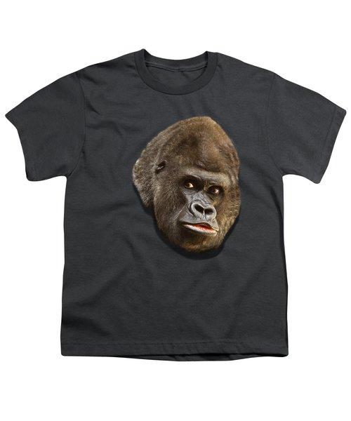 Gorilla Youth T-Shirt by Ericamaxine Price