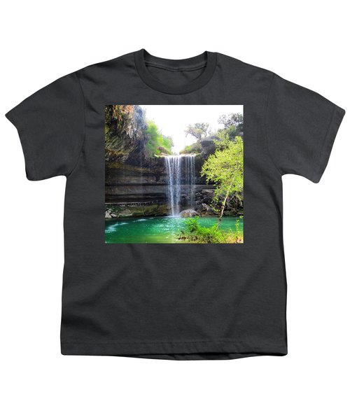 Spent The Day At Hamilton Pool. Yes Youth T-Shirt by Austin Tuxedo Cat