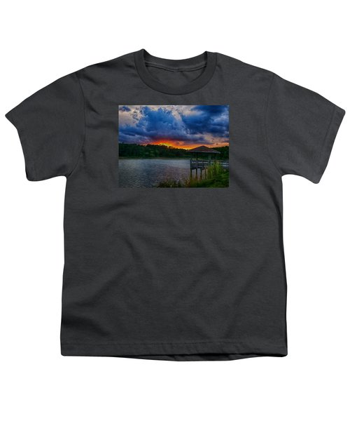 Sunset Huntington Beach State Park Youth T-Shirt by Bill Barber