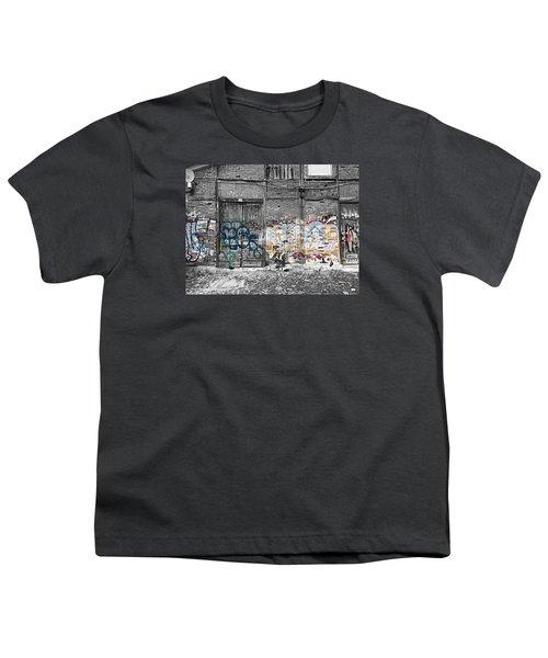 Warehouse In Lisbon Youth T-Shirt by Ehiji Etomi