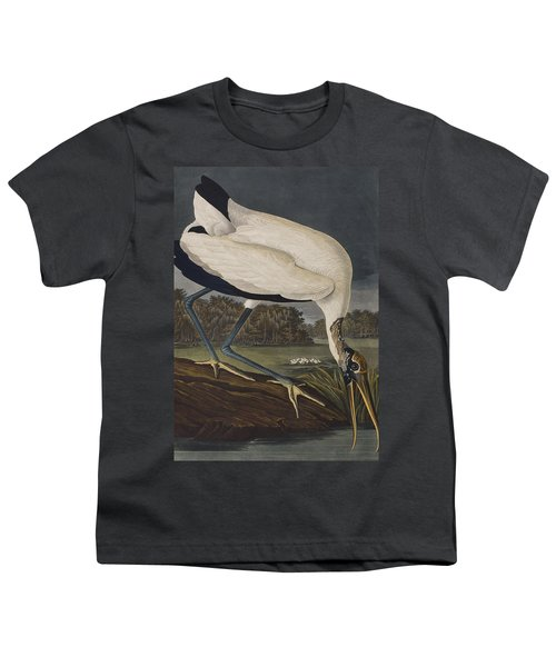 Wood Ibis Youth T-Shirt by John James Audubon