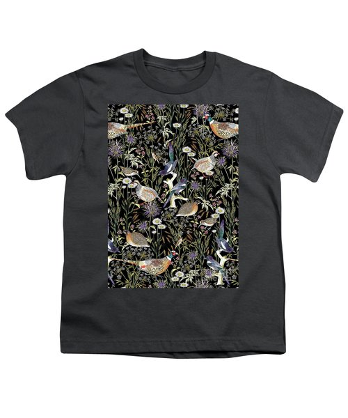 Woodland Edge Birds Youth T-Shirt