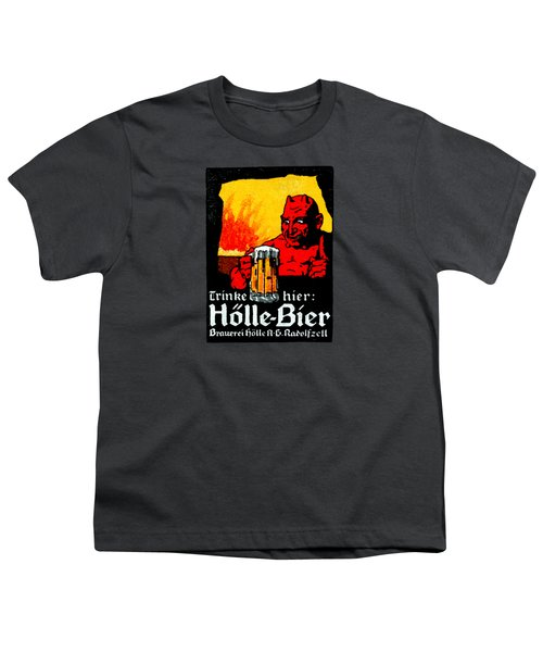 1905 German Beer Poster Youth T-Shirt by Historic Image