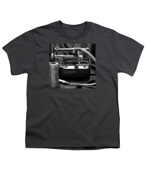 Youth T-Shirt featuring the photograph 1912 Dictaphone  by Ricky L Jones