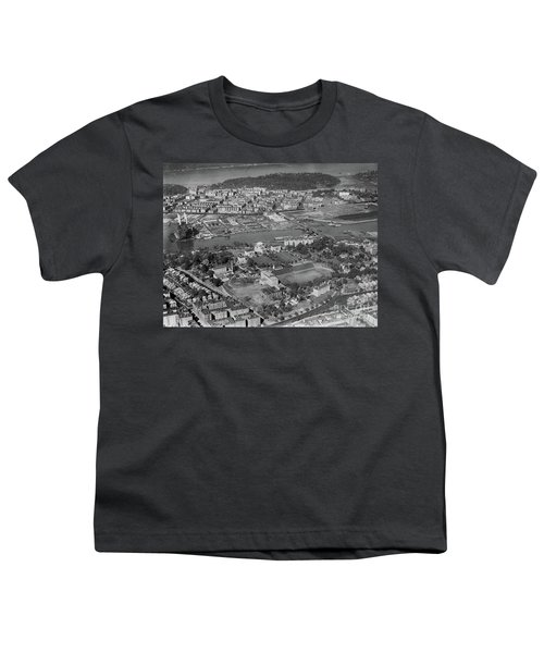 1930's Northern Manhattan Aerial  Youth T-Shirt by Cole Thompson