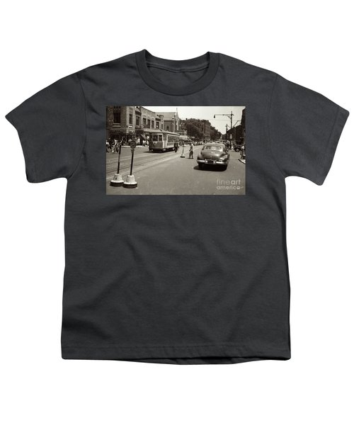 1940's Inwood Trolley Youth T-Shirt by Cole Thompson