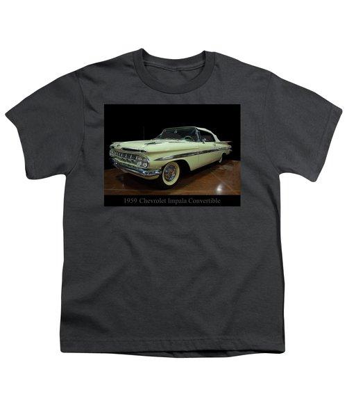 1959 Chevy Impala Convertible Youth T-Shirt