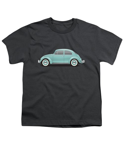 1961 Volkswagen Deluxe Sedan - Turquoise Youth T-Shirt by Ed Jackson