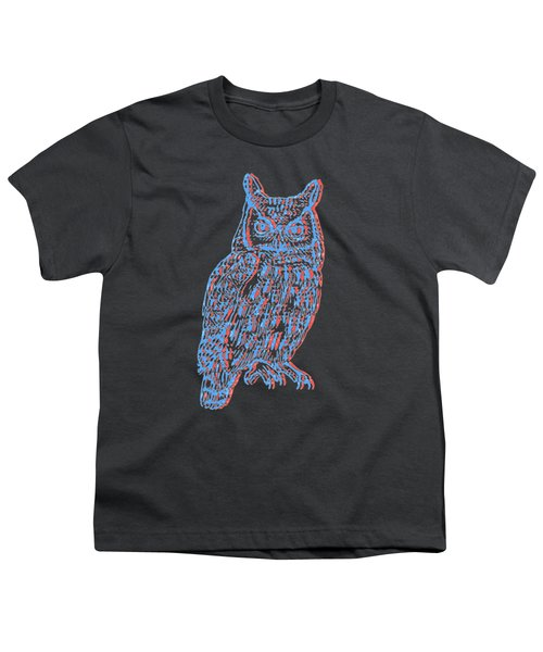 3d Owl Youth T-Shirt