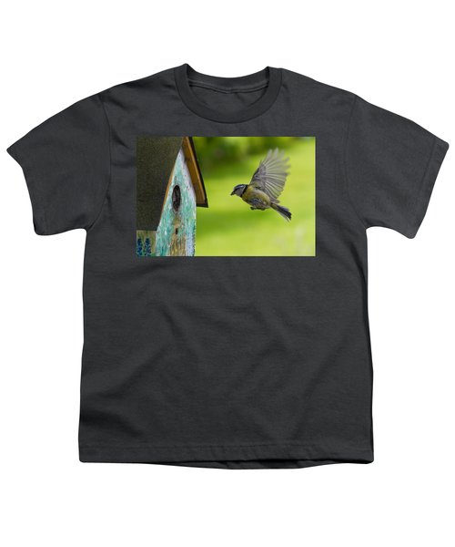 A Busy Blue Tit Mum Youth T-Shirt
