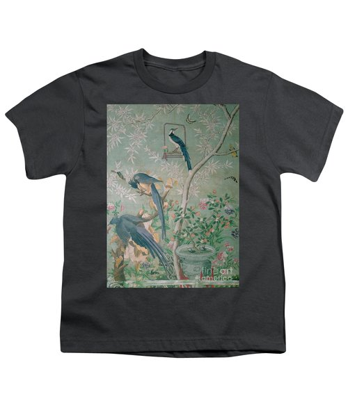 A Pair Of Magpie Jays  Vintage Wallpaper Youth T-Shirt