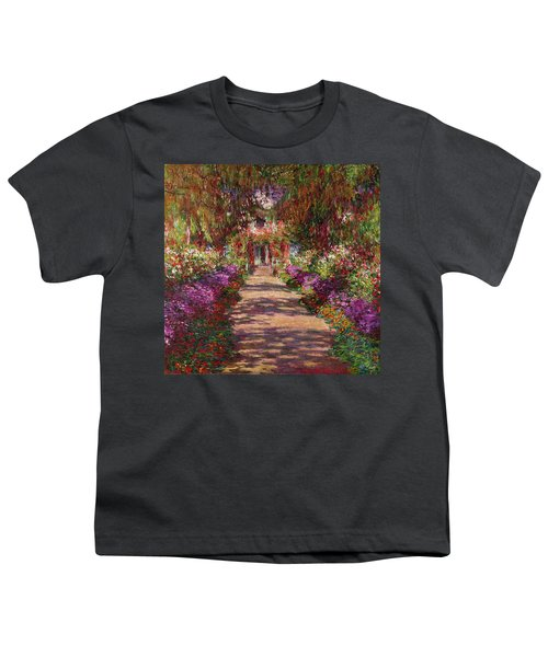 A Pathway In Monets Garden Giverny Youth T-Shirt