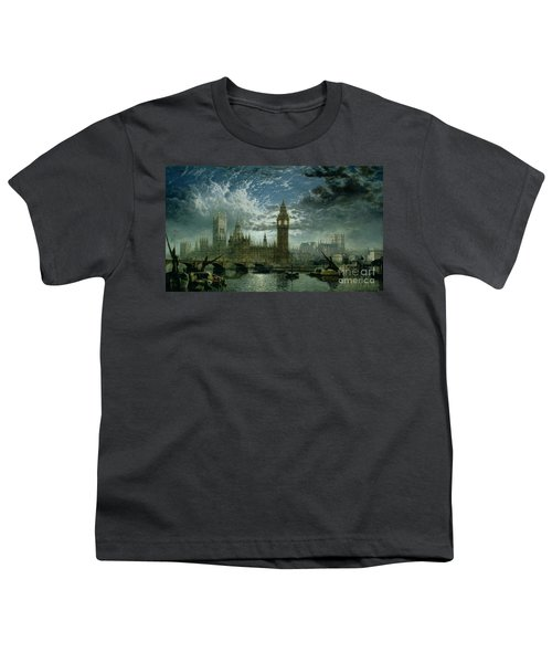 A View Of Westminster Abbey And The Houses Of Parliament Youth T-Shirt by John MacVicar Anderson