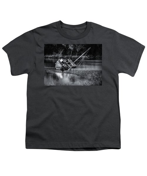 Abandoned Ship In Monochrome Youth T-Shirt