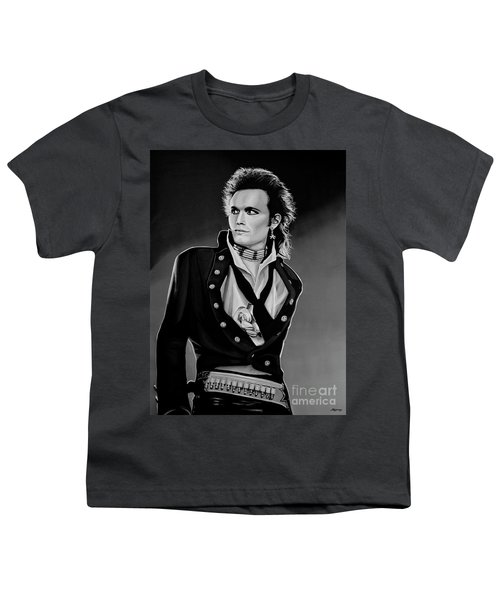 Adam Ant Painting Youth T-Shirt by Paul Meijering