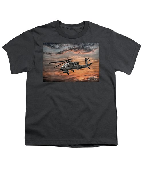 Ah-64 Apache Attack Helicopter Youth T-Shirt