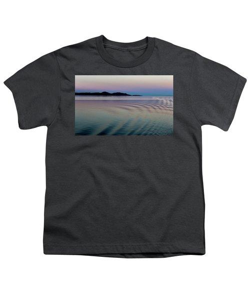 Alaskan Sunset At Sea Youth T-Shirt