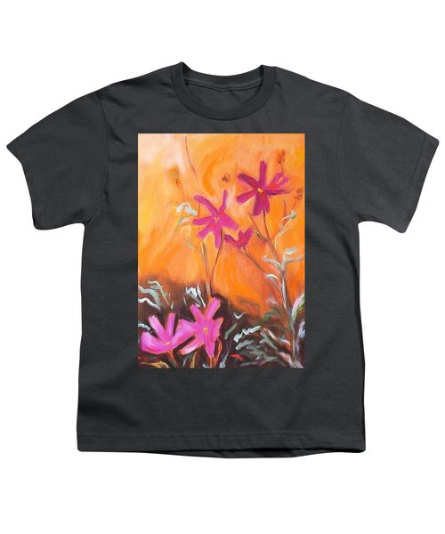 Youth T-Shirt featuring the painting Alba Daisies by Winsome Gunning