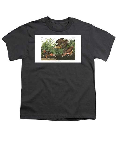 American Woodcock Youth T-Shirt by MotionAge Designs