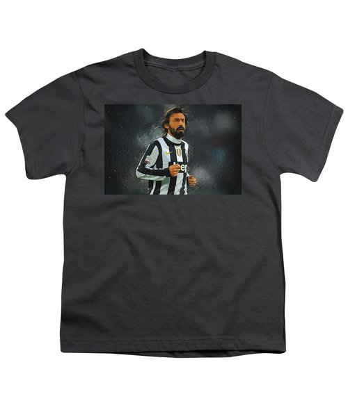 Andrea Pirlo Youth T-Shirt by Semih Yurdabak