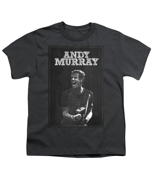 Andy Murray Youth T-Shirt by Semih Yurdabak