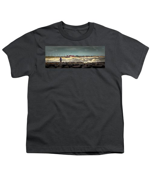 Angry Surf At Indian River Inlet Youth T-Shirt