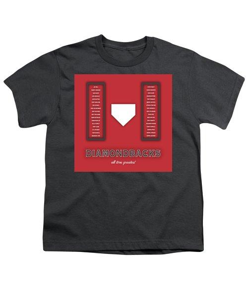 Arizona Diamondbacks Art - Mlb Baseball Wall Print Youth T-Shirt by Damon Gray