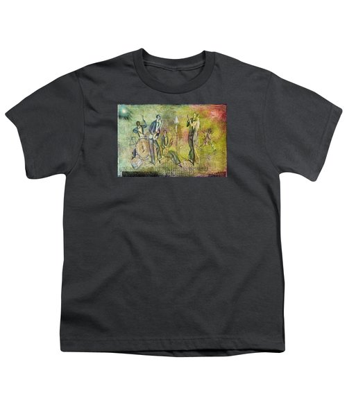 Art Deco Dancing Youth T-Shirt by Bellesouth Studio