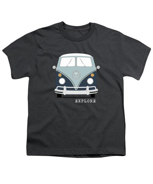 Vw Bus Blue Youth T-Shirt by Mark Rogan