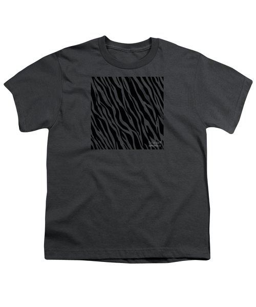 Tiger On White Youth T-Shirt by Mark Rogan