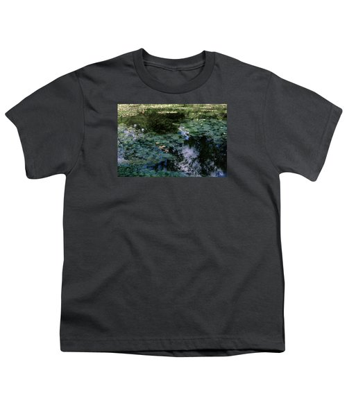 Youth T-Shirt featuring the photograph At Claude Monet's Water Garden 10 by Dubi Roman