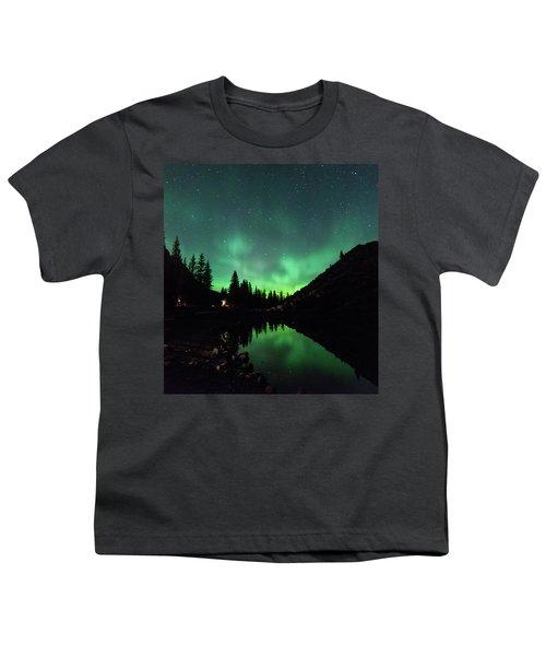 Aurora On Moraine Lake Youth T-Shirt