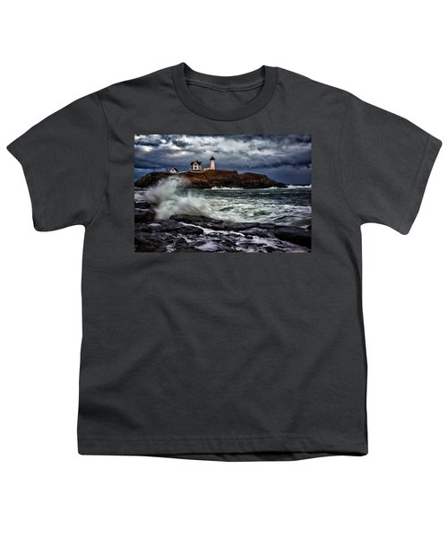 Autumn Storm At Cape Neddick Youth T-Shirt