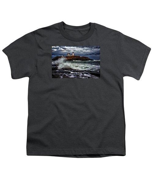 Autumn Storm At Cape Neddick Youth T-Shirt