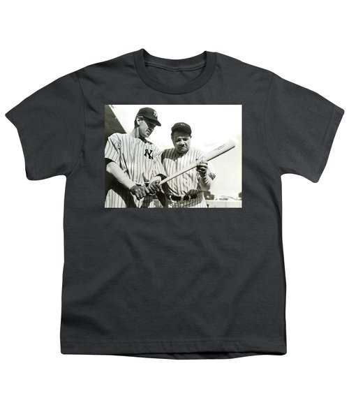 Babe Ruth And Lou Gehrig Youth T-Shirt by Jon Neidert