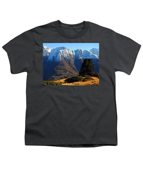 Baettlihorn In Valais, Switzerland Youth T-Shirt