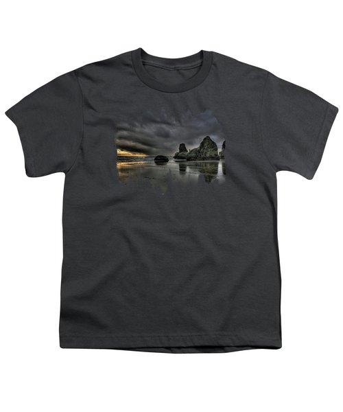 Bandon Beach Storm Youth T-Shirt